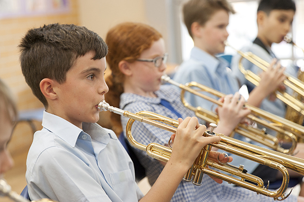 St Pius Catholic Primary School Enmore - students playing the trumpet