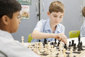 St Pius Catholic Primary School Enmore - students playing chess
