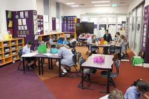 St Pius Catholic Primary School Enmore - students at learning spaces