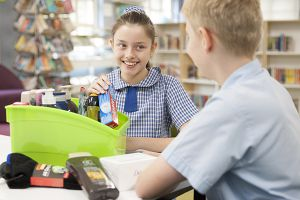 St Pius Catholic Primary School Enmore - students sorting donated items for charity